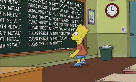 Simpsons blackboard