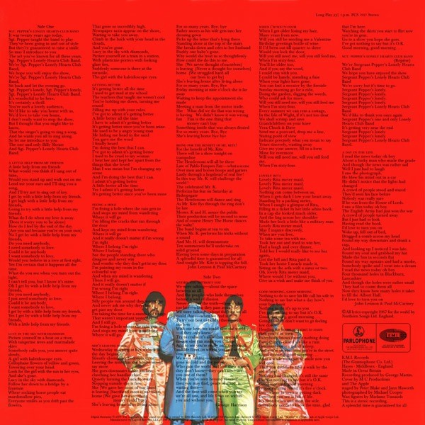 Sgt. Pepper's Lonely Hearts Club Band back cover