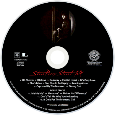 Street Talk CD by Steve Perry